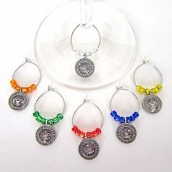 Navy Wine Glass Charms