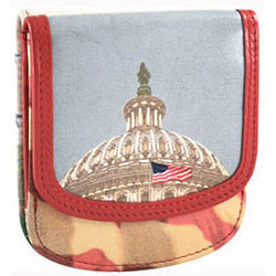 Leather Washington DC Taxi Wallet