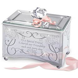 Reflections of a Special Friend Personalized Mirrored Music Box