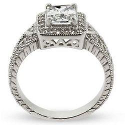 Mariah Carey Replica Emerald Cut Vintage Engagement Ring