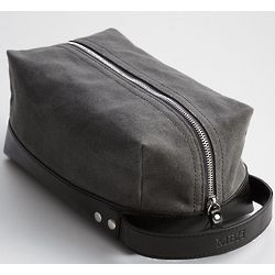 Charcoal Waxed Canvas Toiletry Case
