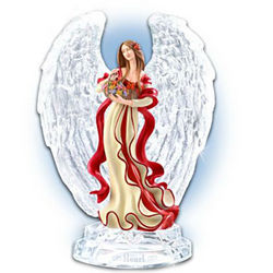 Crystal-Winged Heart Health Awareness Angel Figurine