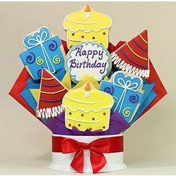 Happy Birthday Surprise 7-Piece Cookie Bouquet