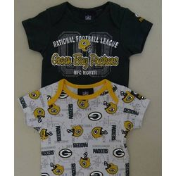 Packers Newborn and Infant Short Sleeve Bodysuits