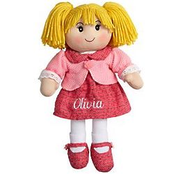 Personalized Blonde Rag Doll