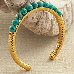 Turkish Blue Moon Turquoise Cuff Bracelet