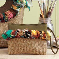 Recycled Sari Wristlet