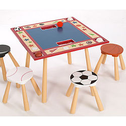 All Star Sports Table & Stool Set