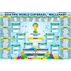 FIFA World Cup 2014 Wall Chart Poster