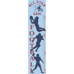 Personalized Football Canvas Growth Chart