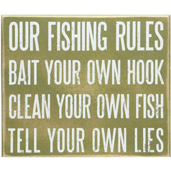 Our Fishing Rules Sign