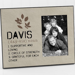 Personalized Family Definition Picture Frame