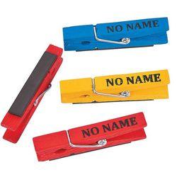 No Name Clothespin Magnets for Teacher