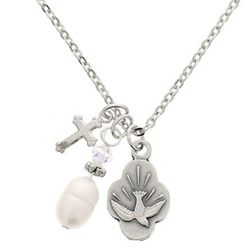 Dove and Pearl Confirmation Necklace