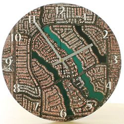 My Town 12'' Aerial Photo Clock