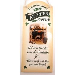 Irish Kitchen Proverb Wall Plaque