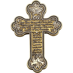 50th Anniversary Gold-Plated Message Wall Cross
