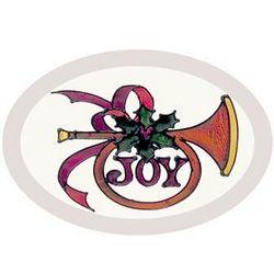 Oval Joy Horn Suncatcher