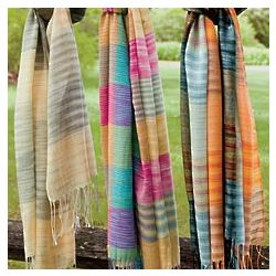 Pop Color Woven Scarf