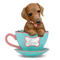 A Cup of Love Dachshund-Themed Teacup Figurine