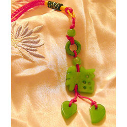 Chinese Feng Shui Hand Carved Jade Luck Charm
