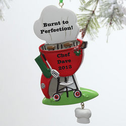BBQ Grill Personalized Ornament