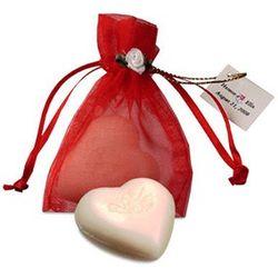 Heart Soap in Organza Bag Favor