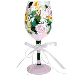 Bridal Bouquet Wine Glass