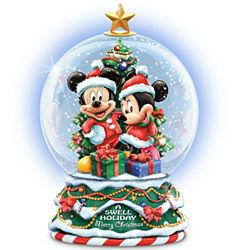 mickey and minnie merry christmas snow globe - Mickey Merry Christmas
