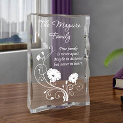 Personalized Blossoming Family Plaque
