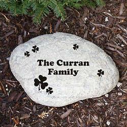 Engraved Irish Family Garden Stone