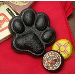 Paw Print Cast Iron Bottle Opener