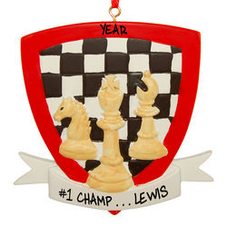 Personalized Chess Ornament