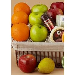Deluxe Classic Fruit and Snack Basket