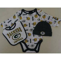 Packers Newborn Bodysuit, Hat, and Bib Set