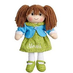 Personalized Brunette Rag Doll