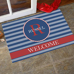 Anchors Aweigh Personalized Standard Doormat