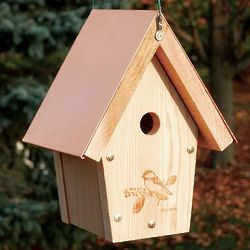 Coppertop Hanging Chickadee and Wren Birdhouse