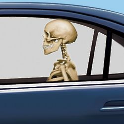 2 Skeleton Backseat Driver Car Clings