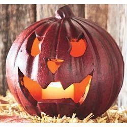 Small Red Terra Cotta Pumpkin Lantern