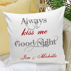 Couple Personalized Throw Pillow