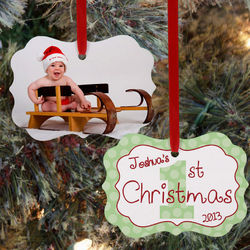Personalized 1st Christmas Photo Ornament