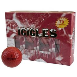 Personalized Red Icicles Golf Balls