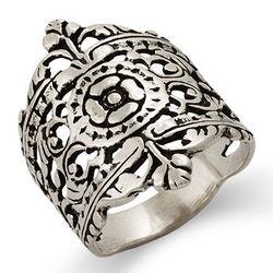 Moroccan Filigree Design Silver Ring