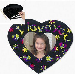 Magic Color Scratch Heart-Shaped Picture Frame Magnets