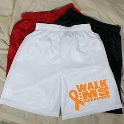 Men's Walk for Multiple Sclerosis Awareness Mesh Shorts