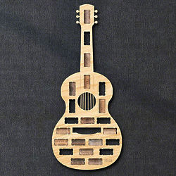 Guitar Shaped Wine Cork Holder