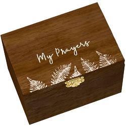 My Prayers Wood Box with Prayer Cards