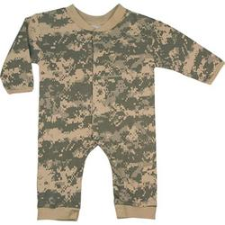 Baby Digital Wood Camo Full Length One Piece Bodysuit