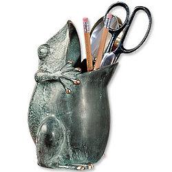 Brass Frog Vase